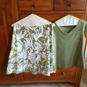 Ann Taylor summer skirt and sweater